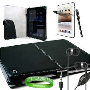 Kit Includes ?Black Melrose iPad Leather Cover + apple ipad