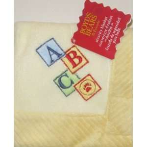 Boyds Bears & Friends Yellow Block ABC Lovey Baby