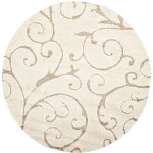 Safavieh Florida Shag Collection SG455 1113 Cream and