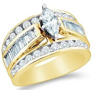 Size   5   14k Yellow Gold Diamond Engagement Wedding Solitaire with