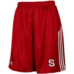 adidas North Carolina State Wolfpack Red 3 Stripe Mesh