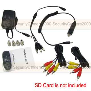Mini Security CCTV DVR Recorder Motion Detection Overwrite Schedule