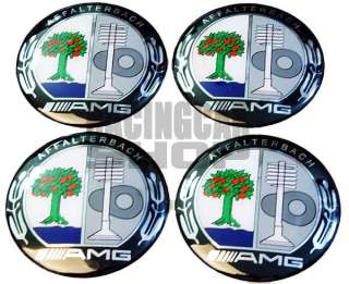 MERCEDES BENZ AMG WHEEL CENTER aluminium EMBLEM SLK ML