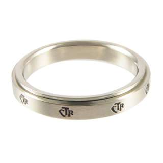 NEW Womens Stainless Steel Mini Spinner CTR Ring