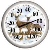NEW SPRINGFIELD 114 13 DEER INDOOR OUTDOOR THERMOMETER