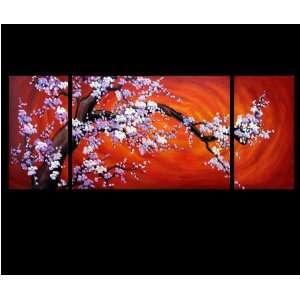 Abstract Art Chinese Cherry Blossom Feng Shui Oil