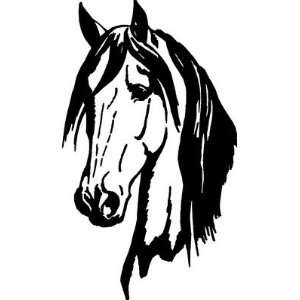 Horse Head Decal 19 x 11 6yr. Outdoor Grade Car Truck Barn