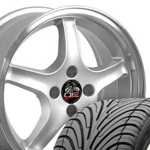 Cobra R 4 Lug Deep Dish Style Wheels and Tires with Machined Lip Fits
