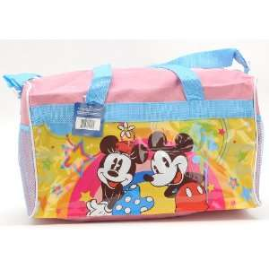 Christmas Gift   Walt Disney Mickey and Minnie Travel Duffle Bag and