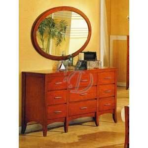 Style Dark Maple Finish Wood Bedroom Drawer Dresser Furniture & Decor