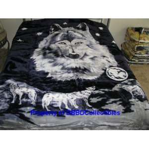 Korean Style Queen Blanket Wolf Pack