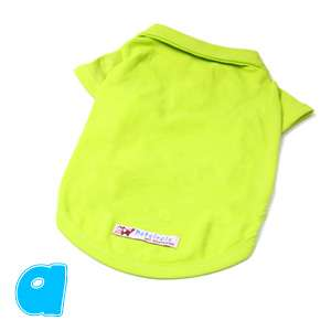 New Colorful Pet Dog Clothes Cotton Comfort T Shirt Tops XS L Eqn