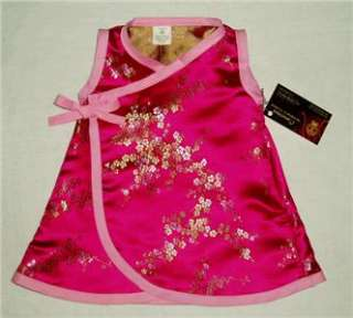 New Cherry Blossoms infant baby girl dress kid clothes