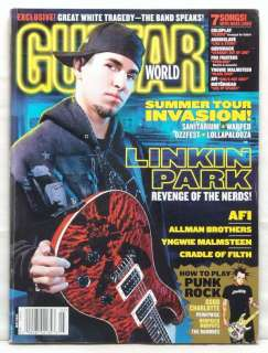 GUITAR WORLD MAGAZINE LINKIN PARK BRAD DELSON AFI RARE