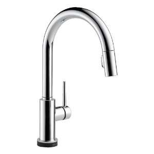 Delta Trinsic Single Handle Pull Down Kitchen Faucet Featuring Touch2O