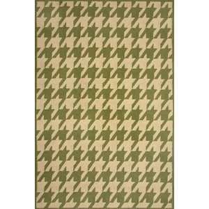 Sawgrass Mills Outdoor Rugs HRHTP5 Houndstooth Pesto  Medium