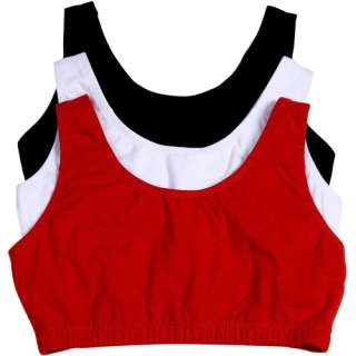 Fruit of the Loom   3 Pack Tank Style Sport Bras, Style 9012, Assorted