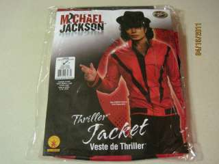 NEW MICHAEL JACKSON THRILLER JACKET ADULT COSTUME LRG