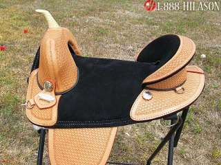Hilason Treeless Western Trail Barrel Saddle 15 AW110