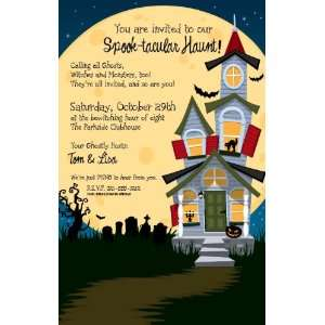 Haunted House Halloween Party Invitations Health