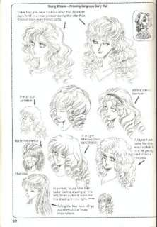 Young Misses   Drawing Gorgeous Curly Hair