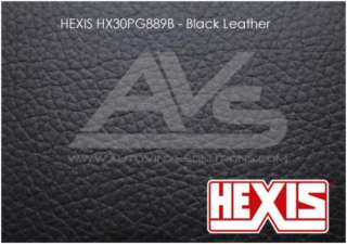 HEXIS Black Leather Vinyl Wrap Decal Film Sheet   15ft x 4.5ft