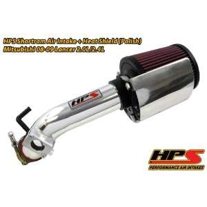 08 09 Mitsubishi Lancer Short Ram Intake by HPS   Polish