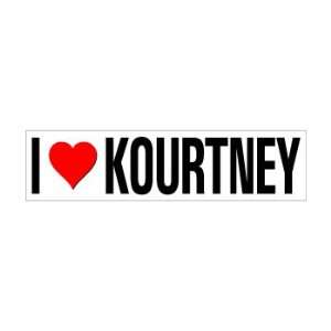 I Heart Love KOURTNEY   Window Bumper Sticker Automotive