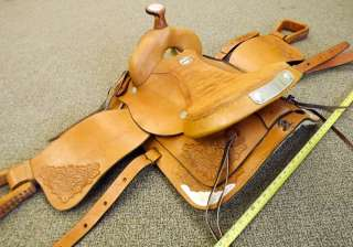 Three Bar Saddlery 16 Leather Western Trail Saddle WOW