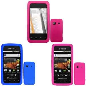 Brand Samsung Prevail M820 Combo Solid Hot Pink Silicone Skin Case