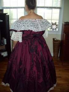 Beautiful Wine Plus Size 18 26 Civil War Ball Gown