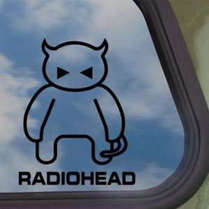 Radiohead Rock Band Devil Logo Black Decal Window Sticker