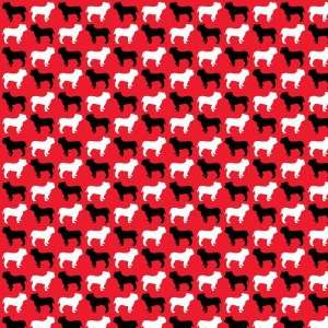 BULLDOG PATTERN RED, BLACK & WHITE Vinyl Decal Sheets 12x12 x3 Great