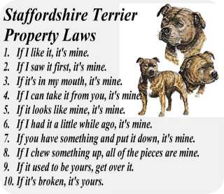 STAFFORDSHIRE BULL TERRIER DOG LAW   COMPUTER MOUSE PAD