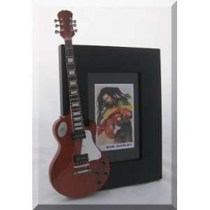 BOB MARLEY Miniature Guitar Photo Frame Gibson Les Paul