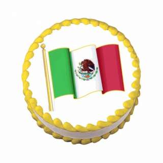 Mexican Flag ~ Edible Image Icing Cake, Cupcake Topper ~ LOOK