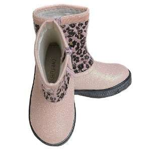 Ruby Lane Toddler Girls Pink Faux Leopard Fur Zipper Boots 7 12 Baby
