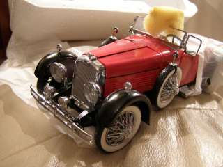 FRANKLIN MINT 1928 STUTZ BLACK HAWK BOAT TAIL SPEEDSTER
