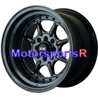 Chromium Black Wheels Rims Deep Dish Stance 4x100 Miata BMW E30