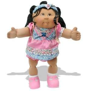 Cabbage Patch Corn Silk Kids Girl in Pink Dress Toys