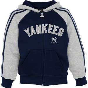 Yankees Navy Adidas 3 Stripe Full Zip Kids 4 7 Hoodie Sports