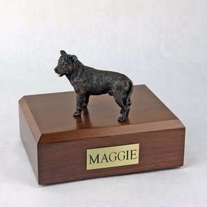 Dog, Staffordshire Bull Terrier, Brindle   Figurine Pet Crematio