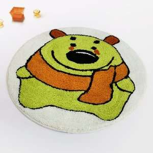 Naomi   [Green Bear] Kids Room Rugs (23.6 by 23.6 inches