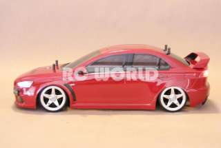 CAR MITSUBISHI LANCER EVOLUTION DRIFT  L.E.D *NEW* READY TO RUN
