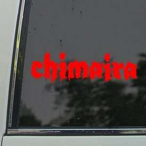 Chimaira Red Decal Metal Band Car Truck Window Red Sticker