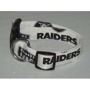 NFL Oakland Raiders Football Dog Collar White Small 1