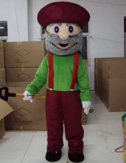 Gold Miner Mascot Costume Outfit Suit Fancy Dress SKU 10331149229