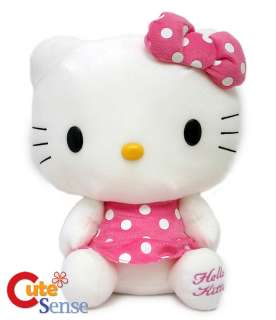 Sanrio Hello Kitty Plush Doll Pink Dress 13in  Original