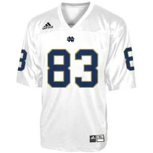adidas Notre Dame Fighting Irish #83 White Replica
