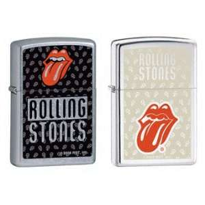 Zippo Lighter Set   Rolling Stones Music Band Red Tongue